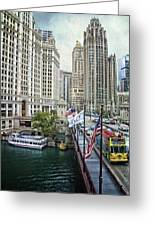 Chicago Michigan Avenue V Hdr Textured Greeting Card
