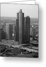 Chicago Modern Skyscraper Black And White Greeting Card