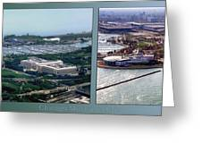 Chicago Museum Park 2 Panel Greeting Card