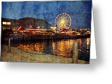 Chicago Navy Pier At Night Greeting Card