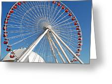 Chicago Navy Pier Ferris Wheel Greeting Card