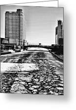 Chicago On Ice By Diana Sainz Greeting Card