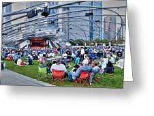 Chicago Outdoor Concert Greeting Card