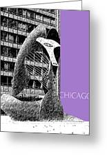 Chicago Pablo Picasso - Violet Greeting Card
