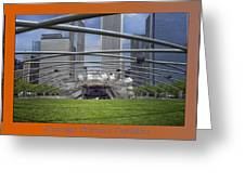 Chicago Pritzker Music Pavillion Triptych 3 Panel Greeting Card