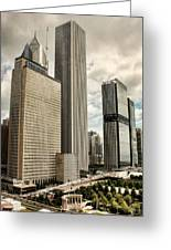 Chicago Prudential Towers Greeting Card