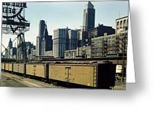Chicago Railway Freight Terminal - 1943 Greeting Card