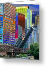 Chicago River Architecture Greeting Card