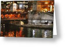 Chicago River At Michigan Avenue Greeting Card