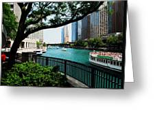 Chicago River Scene Greeting Card