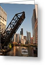 Chicago River Traffic Greeting Card