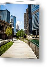 Chicago Riverwalk Picture Greeting Card