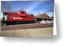 Chicago Rock Island Caboose Greeting Card