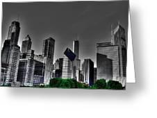 Chicago Skyline 1 Bwc Greeting Card