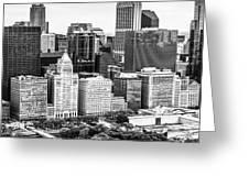 Chicago Skyline Aerial Panorama Photo Greeting Card