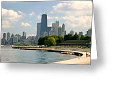 Chicago Skyline And Lakefront Greeting Card