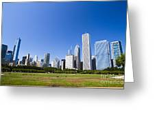 Chicago Skyline From Grant Park Greeting Card