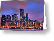 Chicago Skyline From Navy Pier View 2 Greeting Card