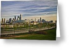 Chicago Skyline From The Sledding Hill Greeting Card