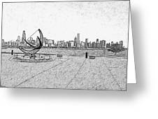 Chicago Skyline Hard Ink Greeting Card
