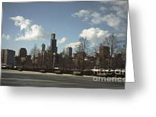 Chicago Skyline Postcard Greeting Card
