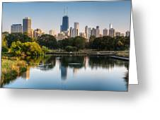 Chicago Skyline Reflection Greeting Card