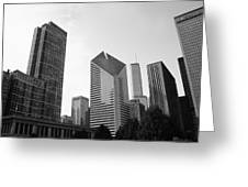 Chicago Skyscrapers Greeting Card by Mike Maher