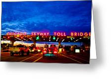 Chicago Skyway Toll Bridge Greeting Card