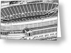 Chicago Soldier Field Aerial Panorama Photo Greeting Card
