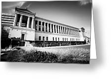 Chicago Solider Field Black And White Picture Greeting Card by Paul Velgos
