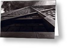 Chicago Structure Bw Greeting Card