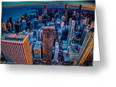 Chicago Sunset Glow Greeting Card