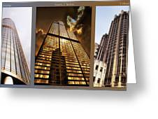 Chicago Tall Shoulders Trump Sears Tribune Triptych 3 Panel 02 Greeting Card