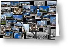 Chicago The Bean Collage Greeting Card