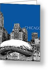 Chicago The Bean - Royal Blue Greeting Card by DB Artist