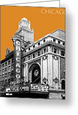Chicago Theater - Dark Orange Greeting Card