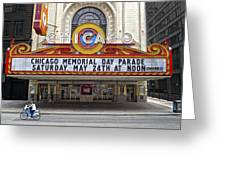 Chicago Theater Signage Greeting Card