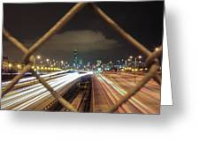 Chicago Long Exposure Greeting Card