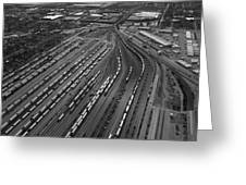 Chicago Transportation 02 Black And White Greeting Card