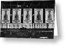 Chicago United Center Banners Bw Greeting Card