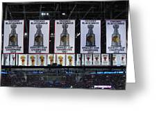Chicago United Center Banners Greeting Card