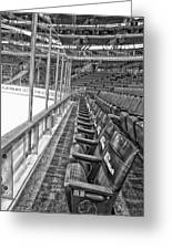 Chicago United Center Before The Gates Open Blackhawk Seat One Bw Hdr Greeting Card