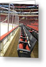 Chicago United Center Before The Gates Open Blackhawk Seat One Greeting Card