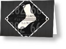 Chicago White Sox Baseball Vintage Logo License Plate Art Greeting Card