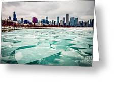 Chicago Winter Skyline Greeting Card
