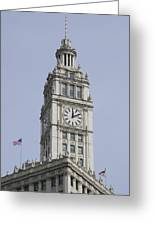 Chicago Wrigley Clock Tower Greeting Card