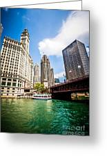 Chicago Wrigley Tribune Equitable Buildings Photo Greeting Card
