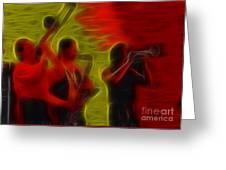Chicago19-horns-fractal-1 Greeting Card