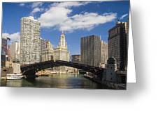 Chicagobridge Up Greeting Card