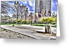 Chicago's Jane Addams Memorial Park From The Series The Imprint Of Man In Nature Greeting Card
